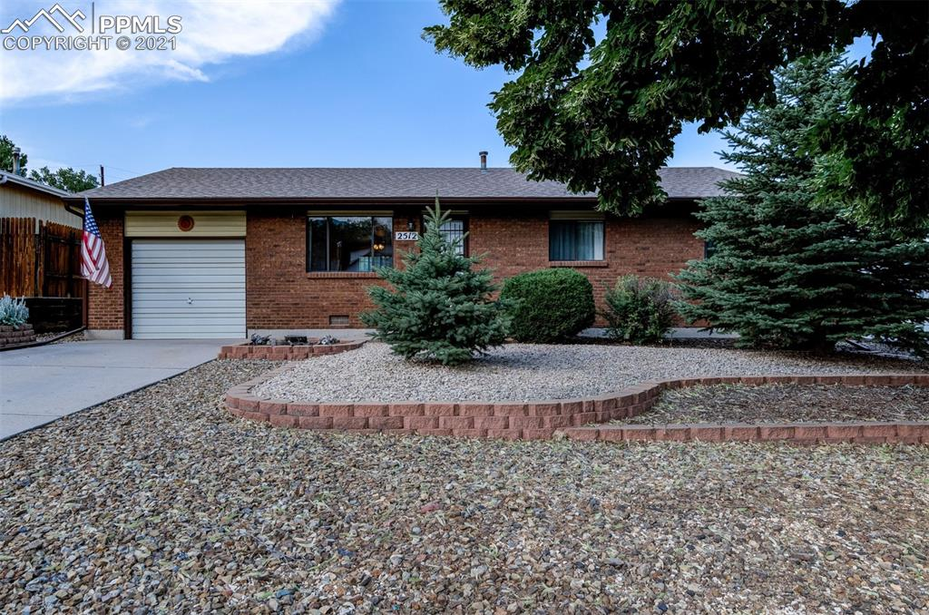 What a fantastic brick main level living ranch home in Old Colorado City! Location, Location, Location! Just blocks from Thorndale Park and true Open Space and Open Space Trails behind this R2 zoned home with mountain views! The interior (note: no popcorn ceilings!) has a spacious living area with lots of natural sunlight, dining area which walks out to the back yard area, kitchen with large pantry, laundry closet with washer and dryer that stay, master bedroom, secondary bedroom, master bath with double vanity and extended 3/4 bath, full hallway bathroom with linen closet, and bonus room which could be an office, walk-in closet, or smaller non-conforming bedroom. There is an attached tandem garage with exterior door to the back yard. The enclosed back yard with newer fence and automatic sprinkler system has a gate to the second back yard area which could easily be another yard or build your own sweet garage or shed - tons of space and has alley access - RV parking! Central Air, electrical panel is newer, and the roof is 1 month new! Great bones and Westside living! So close to Thorndale Park - picnics, playground, hoops and more!