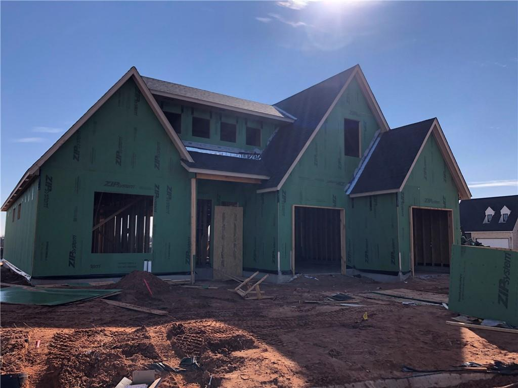 Remarkable home under construction in NE Edmond's hottest new area. This home is located on a cul-de-sac and has a spacious back patio. Master suite includes large walk-in closet with pass through to laundry room, double vanites, separate shower & tub. Additional bedroom (or study) and full bathroom is located on the first floor. Kitchen is open to living and includes a spacious island, lots of cabinetry and a pantry. Upstairs includes 2 bedrooms and another full bathroom. Tandem garage. Hurry now to make your selections. Cross Timbers features a community pool, clubhouse, fitness center and amazing location close to Starbucks, Showbiz Cinema, I-35 and the new Hilton Hotel and Convention Center.