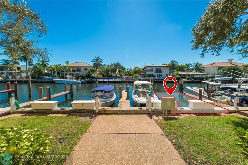 Dock at Your Own Private Slip on a 120' Wide/Zero Fixed Bridge Canal Minutes from Pt. Everglades. Shoreside Power Pedestal w/30amps & Freshwater Tap* Open Concept Living& Dining Area Downstairs* Two Spacious Bedrooms Upstairs w/ Ensuite Bathrooms, Master has a Large Walk-in Closet* Hardwood Flooring on Lower Level*  Plush Carpeting in Bedrooms*Newer Lennox HVAC System*Energy Efficient Stainless Appliances*All Impact-Resistant Entry Doors/Accordian Shutters for All Windows*New Electrical Sub-Panel*2 Reserved Off-Street Tandem Parking Spaces + Guest Spaces*$750.Mo. HOA Fee Incl. Reserves, Windstorm, Bldg. Liability & Flood Ins.& Pest Control. Pet Friendly/No Aggressive Breeds* 6-Unit Complex Conveniently located near SE 17th St Shopping and FLL Airport between Rio Vista&Lauderdale Harbors.