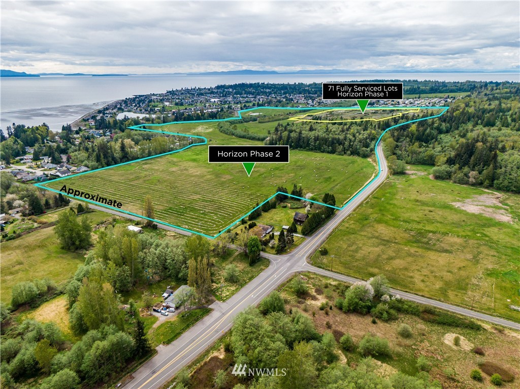Horizons @ Semiahmoo: 181 Acres zoned Residential, Multi-Family & Commercial. Tract 1 is completed with 71 lots, each with its own tax parcel number serviced with Water, Sewer, Power, Gas, Roads & Sidewalk. Mostly ready to build. Tracts 3 & 4 consist of 75 entitled single family residential lots in the raw, the balance is a mix of Residential multi-family & commercial. Originally entitled for 620+ units of residential and 120,000 SQFT of commercial space. Largest water-view plat in the County. Views of Birch Bay & the San Juan Islands. Tract 1 also listed independently for $9.159M or $129K per lot (MLS# 1722840) also available 48 acres fronting Semiahmoo Golf & Country Club for 88 units of which 19 are fairway lots  @ $1.85M (MLS#1722808)