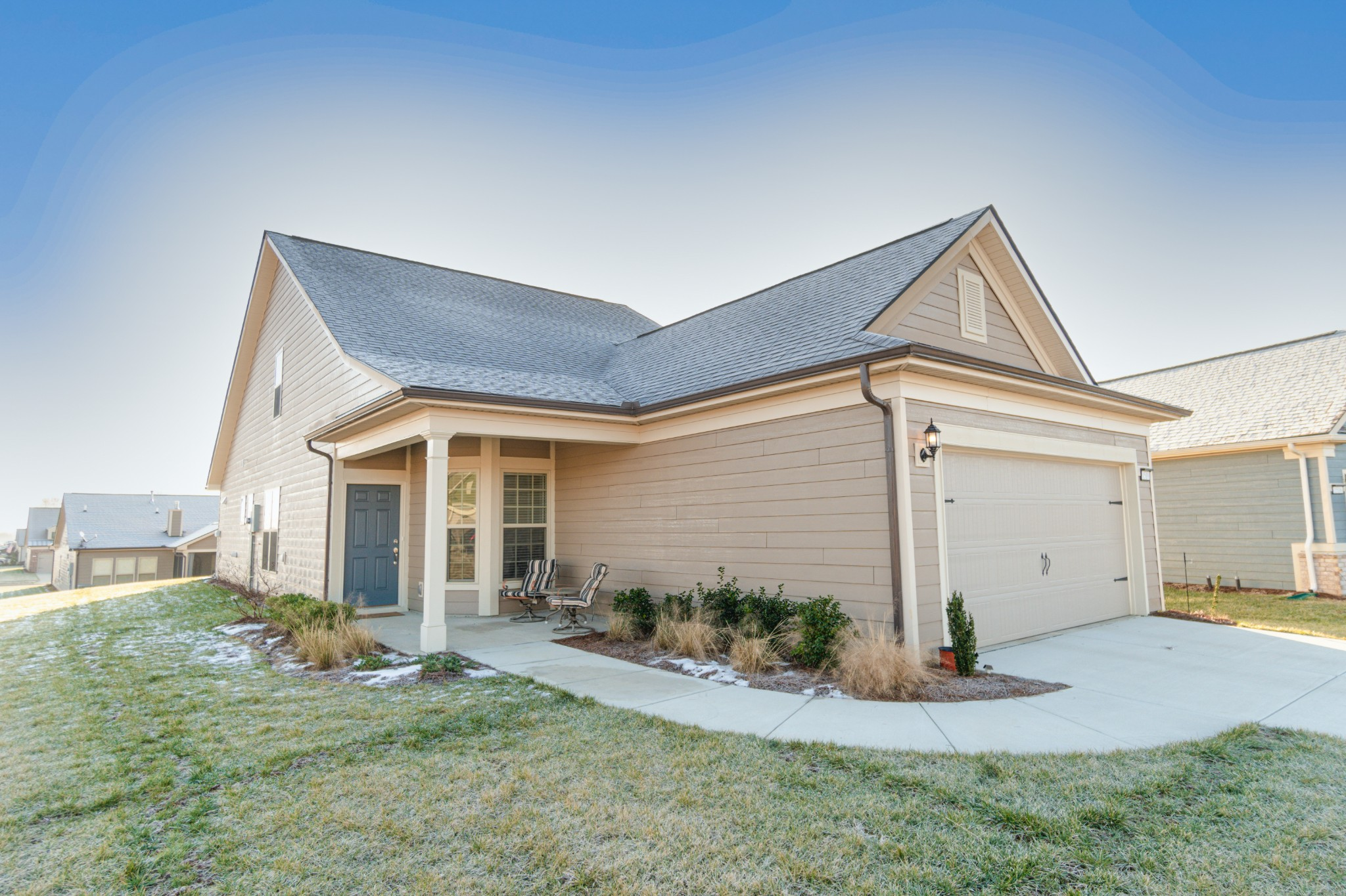 Welcome Home- Del Webb 55+ Active Adult Community Featuring Resort-Style Amenities Including Indoor/Outdoor Pool, Fitness Center, Yoga Room, Tennis and Pickle Ball Courts. HIGHLY DESIRABLE Taft Street Floor Plan w/Upstairs Bonus Room, 3rd Bedroom, and 3rd Full Bath.  Office/Flex Room, Gourmet Kitchen with Black Whirlpool Appliances, Granite Counter Tops in Kitchen and All Bathrooms.  Large Corner Lot w/Covered, Screened Patio, Front Porch & 2 Car garage. HOA Maintains Yard! NO MORE MOWING!!