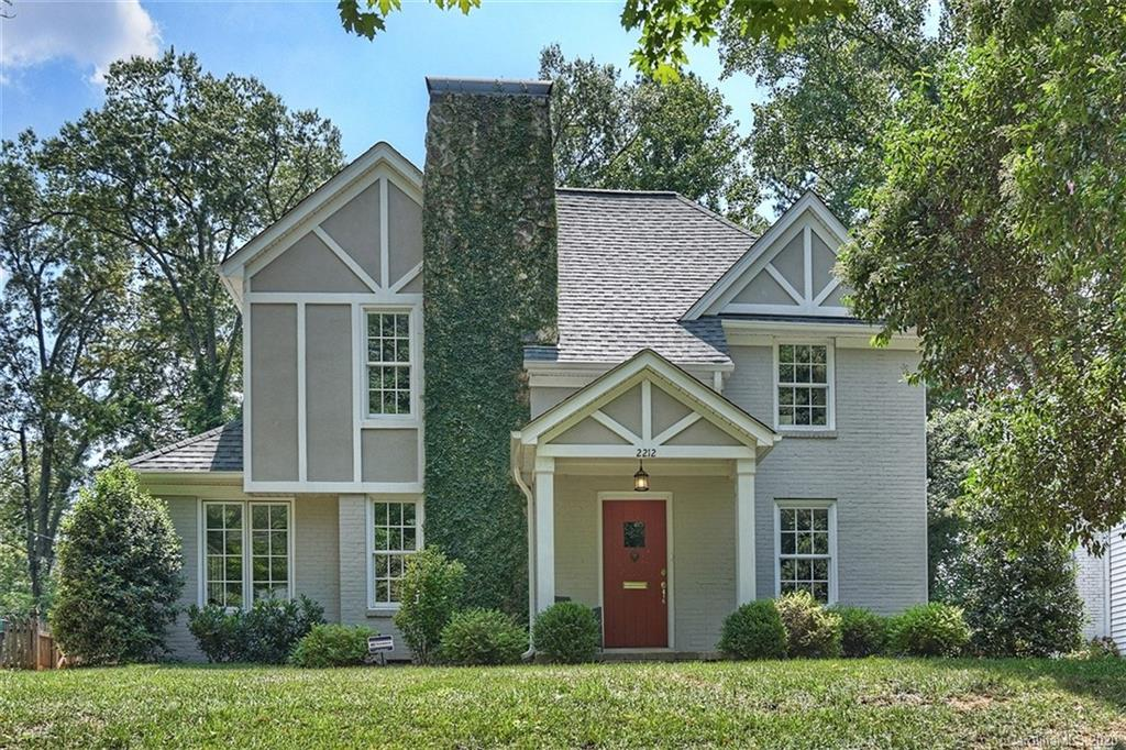 Fantastic Myers Park home on popular Malvern Road. Renovated in 2017, this home checks all the right boxes- Location, curb appeal, excellent floor plan & flow, plus it's updated! Granite kitchen with eat-in island opens to a family/morning room addition with a ship lap vaulted ceiling and a fireplace.  First floor master suite addition includes an awesome bath. The rooms are generous sizes and full of natural light. Hardwoods thruout. Mud room/laundry is complete with a tiled dog wash zone. Upstairs has 4 bedrooms plus an office. Adjacent carport great for loading and unloading kids /groceries in rainy weather & serves as a covered outdoor gathering place. New roof and new windows 2017. Seller is agent. *Showings begin 8/14/20