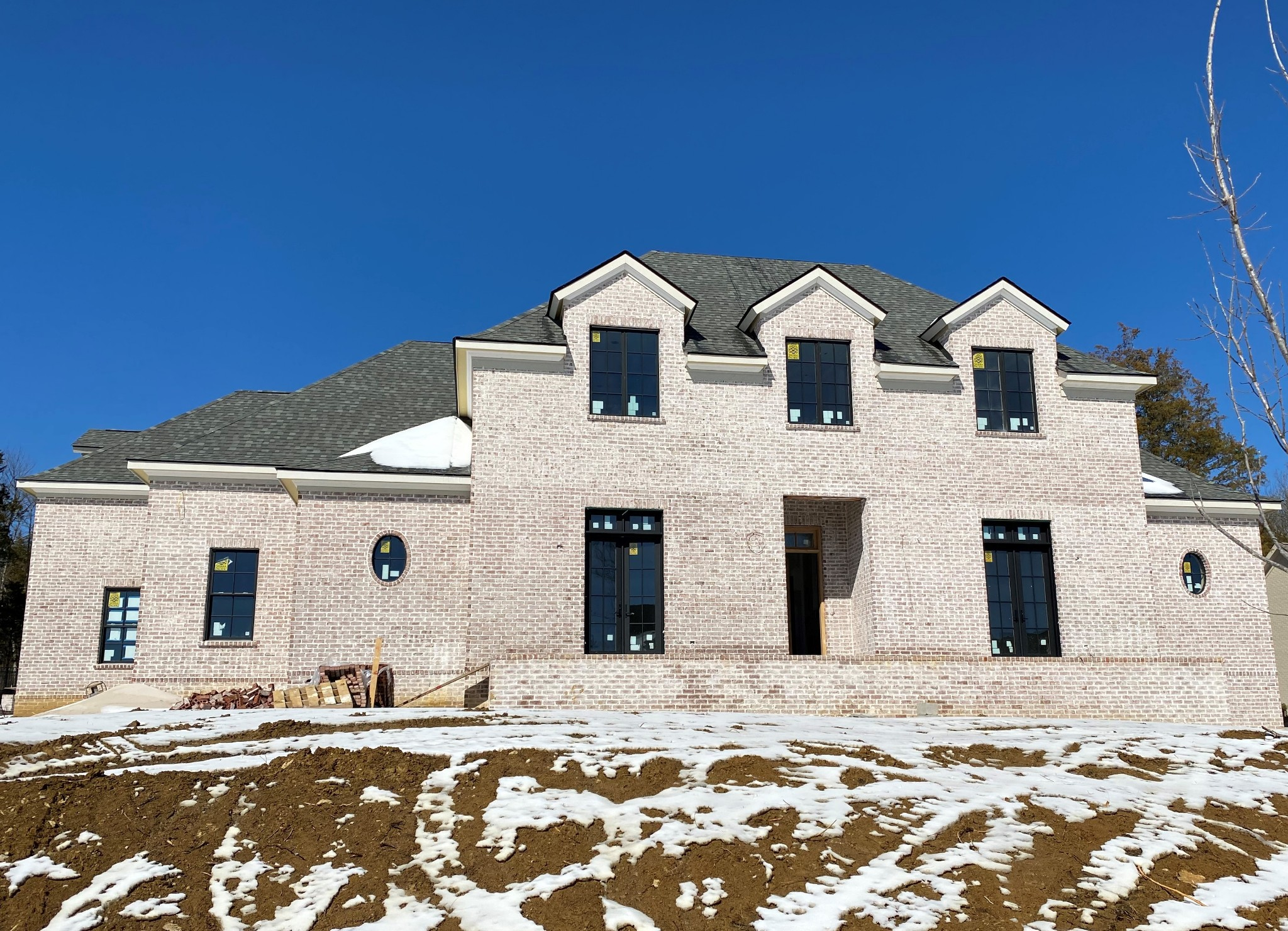 Gorgeous, New  6319 sq ft Custom Home by Cornerstone Premier Homes. Main floor Master and Guest suite, Kitchen & Back Kitchen, Great Room, Study, Dining and Morning Rm. Second floor features 3 additional bedrooms w/ 3 Full Baths, Bonus Rm, Theater Rm and large Loft. Beautiful, covered Outdoor space with fireplace. Stunning fixtures, finishes and design features with attention to detail at every corner.