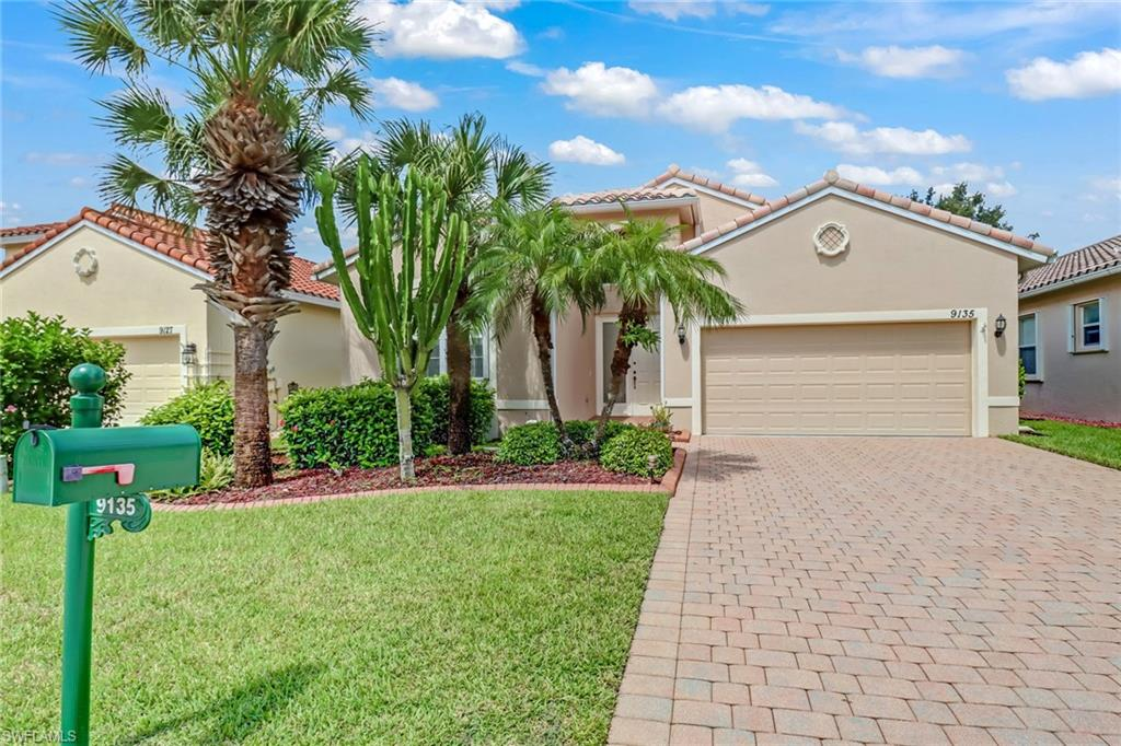 Look no further! Located in the desirable community of Cascades in the heart of Estero this popular St. Kitts floor plan is situated on a premium water lot with an extended lanai and expansive outdoor space. This home features tile floors in the main living area and hard surface flooring in all bedrooms and the den. No carpet here! Crown moldings, upgraded paint, and recently replaced stainless steel appliances are just some of the features that make this home need to be seen to be appreciated. The Cascades is a hidden gem in located in the heart of Estero - there is SO MUCH to do with a full time activity director keeping the event calendar full. Ample tennis courts, two card rooms, billards rooms, library, indoor/outdoor community swimming pool are just some of the amenities that make this community a premiere 55 or better community. Schedule your showing today!
