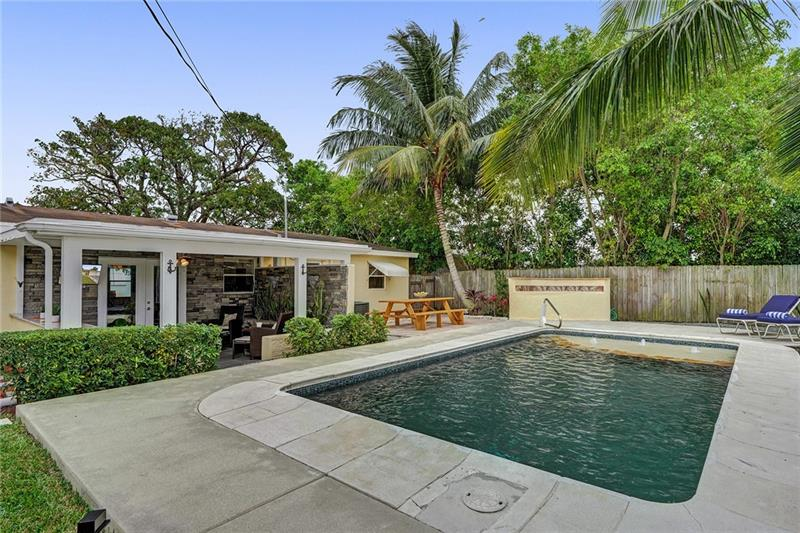 Welcome to paradise! This updated 3BD/2BA pool home has everything you've been searching for & offers the ultimate indoor/outdoor living experience. The interior features include a completely updated kitchen with granite countertops, 2019 SS appliances, remodeled bathrooms, 2019 A/C, uniform flooring throughout the entire house/garage, 2019 W/H, & crown molding finishes. Making your way outside, you'll feel like you on vacation everyday with the professionally designed & landscaped backyard! Features include a dark bottom swimming pool with baja shelf, brick patio with BBQ island, tropical trees, plenty of room for entertainment, & a side yard perfect for parking your boat/RV. Don't miss out on this great opportunity. This Deerfield Beach home is calling your name!