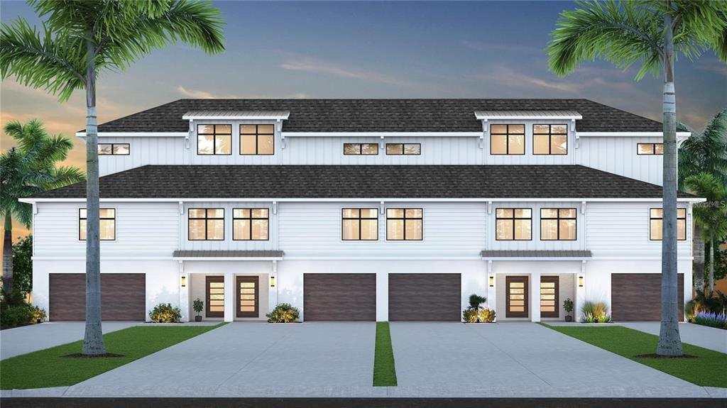 Pre-Construction. To be built. **LIMITED TIME OFFER, builder offering a $12,500 credit towards upgrades!** Brand new coastal luxury townhome to be built! Situated in the heart of Madeira Beach with intracoastal balcony views and a variety of restaurants and bars within walking distance, it's a maintenance-free beach paradise. The welcoming open floor plan features two spacious guest bedrooms and a dream third floor master suite. The owner's suite boasts a massive bedroom, walk-in closet, luxury ensuite bathroom, and gorgeous third floor water views. An additional second full bathroom is located on the second floor. INCLUDED luxury upgrades: quartz countertops, consistent luxury vinyl plank floors on 2nd and third floor, lofty 10ft ceilings in main living level, 2+ car garage, oversized second story balcony for entertaining, real wood white shaker kitchen cabinets, luxury Samsung stainless steel appliance suite, luxury tiled bathrooms, and more! This exclusive preconstruction development already has the other interior unit under contract with #2 being the LAST AVAILABLE UNIT UNDER THE $1M MARK. Estimated completion in the summer of 2022. Take advantage of the 15 day, worry-free guarantee and secure your dream beach townhome today!
