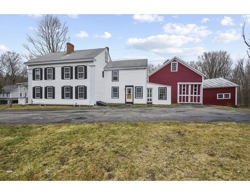 Highest and best due Monday (4/12) at 2PM. Please allow 24 Hours for a response,.  This 5-bedroom Antique Colonial is situated on over an acre and offers an abundance of living space. Inside you will find a fireplaced living room w/ tons of natural light & beautiful wide plank flooring, a spacious dine-in kitchen with tons of cabinet and countertop space as well as access to the mudroom which leads to the Barn! There is also a formal dining room, a full bath & a first-floor bedroom – perfect for a home office, home gym, or anything you desire. Take either set of stairs, front or back, up to the 2nd floor where there are 4 spacious bedrooms. The master bedroom offers a full en-suite bath and one of the other bedrooms has access to the walk-up attic!  Have you dreamt about having a barn? Here's your chance – this home has one attached. Enjoy the warmer months in the treelined, private, backyard or checking out the farmer's market in the town's center!