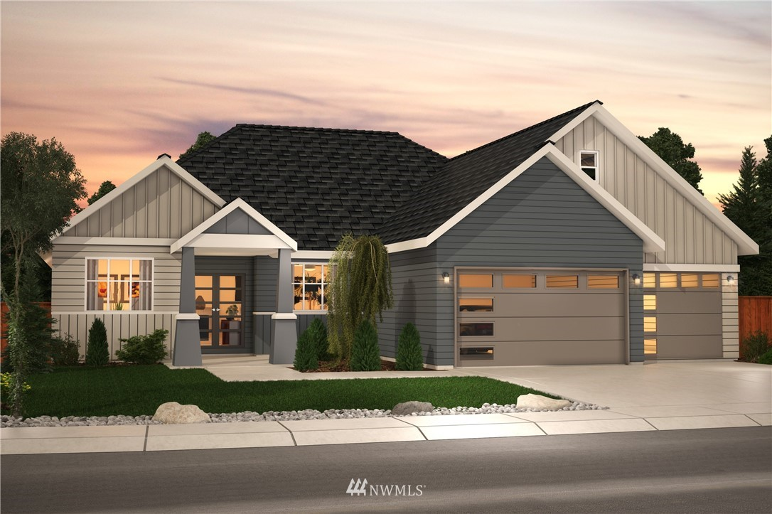 Beautiful New Rambler in Elk Run. The Cassia plan has almost 2,600 SF w/ high ceilings, oversized windows & hardwood floors throughout the entry, formal dining, great room, kitchen & dining nook. Chefs kitchen includes shaker style, soft close cabinets, quartz counters, full height backsplash, SS appliances, including a 5-burner gas range, double ovens & an oversized island. Great Room boasts vaulted ceilings opening up to covered outdoor living area. Spacious Master Suite w/ 2 walk-in closets! 2 additional bedrooms, home office, mud room off the 3 car garage & butlers pantry.