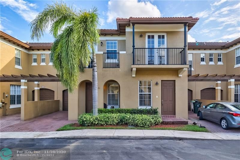 Become part of a great lifestyle in the most desired community in Coconut Creek at Julia Gardens Townhomes, This  Wonderful Lake View Unit with 3 beds 2.5 baths 1 car garage is an owner occupy richly decorated and notable for lavish attention to detail. Porcelain floor up & down. Baths fully remodeled new vanities & shower. New Stainless Steel  Appliances. New A/C and WH equipment Jun 2020. All new Kitchen Cabinets , Pantry, Laundry & Garage . All walking Closet & Closet built-in . The Stair is fully upgrade with wood and porcelain railing Also include Family Room wall unit TV, window draperies, master room furniture and wood desk...must see it!