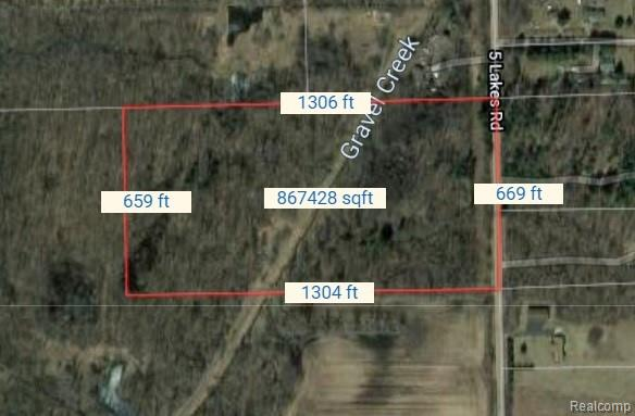 Wooded 20 acres, Great for hunting or a secluded New Home building site!  Beautiful Gravel Creek runs through the property about half way back.  Tons of wildlife, Great Deer & Turkey hunting!  Surrounded by many acres of woods & Privacy!!   Perfect established Sanctuary for the deer, with distant farm fields and 1000's of acres of State land not far away!  Secluded setting, yet not to far out of town make this a one of a kind piece of land!  Buyers agent must accompany all showings.