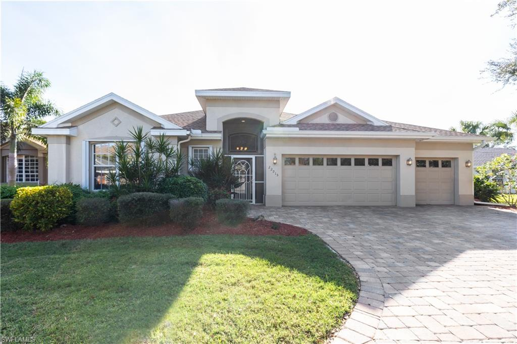 """Desired Location across the street from Coconut Point Mall & 2 new Hospitals near Bonita Beach. This """"Birch"""" model features 4 bedrooms, 2 baths, white kitchen cabinets, quartz kitchen counter tops, stainless steel appliances open to the great room and casual dining area. Electric Roll Down shutter, accordian hurricane shutters & Hurricane rated entrance door. Roof replaced 2016, New A/C 2018- 16 seer 4 ton Trane, Tinted windows. ( can easily be removed, although this is an energy saver) You also have a formal living room & formal dining room. Need a large master bedroom??  Look no further. Master Bathroom is LARGE as well with new vesel sinks, vanities and shower tile. This home lives large and provides plenty of room for entertaining either in the large open interior or outside on the screened lanai and expansive pool/spa area overlooking the lake with southern exposure. Marsh Landing community has a junior Olympic size pool, spa,clubhouse, fitness room, tennis/pickleball courts, basketball area, bocce ball a play area and PET friendly. 24 hour notice for all showings. No Fridays and Sundays"""