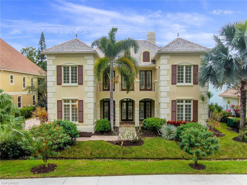 Hemingway Place is a gated enclave of fine residences centrally located and close to Park Shore & Venetian Village for spectacular bay front dining & shopping, minutes to the Beach, with 5th Ave to the south and Waterside & Mercato to the north!  This fabulous residence offers light & airy living, soaring ceilings & freshly painted neutral interior and impact resistant windows & doors. Great room with grand gas fireplace & triple french doors to an open patio, custom pool with sun shelf & spa, preferred southern exposure + undercover outdoor kitchen & dining for optimum Florida lifestyle. Main level also offers spacious Master Bedroom with feature bay window, new oak wood floor & french doors to patio, dual walk-in closets & en-suite bathroom.  Upper level has a magnificent loft walk-way open to great room, lined with french doors to the front balcony, three guest bedrooms and a spacious media room, all have new carpet, with sliding doors to an open sun deck leading to a generous private guest suite/cabana with walk-in closet & full bath which also has access via a separate entrance from the pool deck! An oversized paver driveway & 2 car garage top off this fabulous residence!
