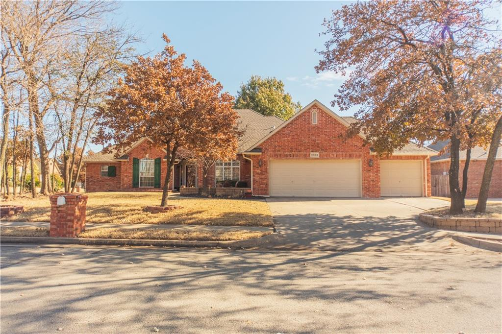Beautiful home on a large corner lot! Wonderful floor plan....three bedrooms including master on one side, guest and full bath on the other side. Two bedrooms separated by Jack and Jill bath. Two living and two dining: Cozy fireplace room provides private den near breakfast nook and kitchen. Fourth bedroom has built-ins and could easily be used for a study. Additional living and dining open to front entry; so guests notice the open feel upon entering but your living spaces can still be private in the back of the home. Two separate patios and a yard that accommodates living, garden or play space make the outdoors inviting. Built-in Speakers throughout home! Sprinkler system! Neighborhood offers a pool, park, walking trails, basketball courts!