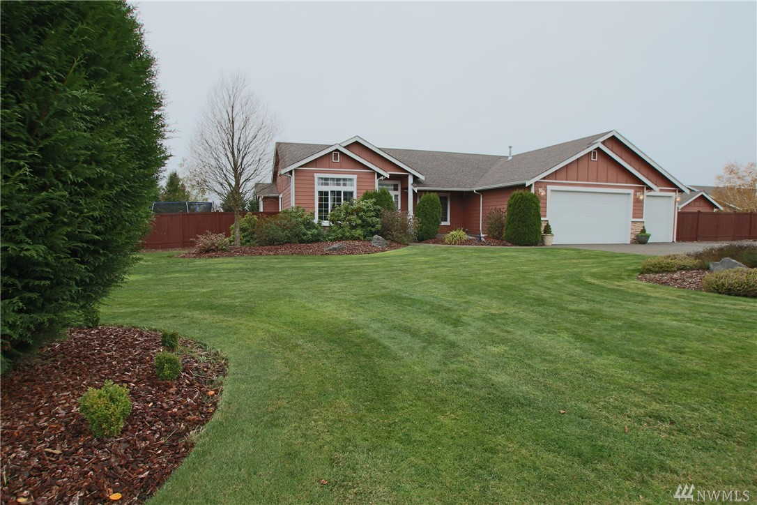Beautiful rambler on 3/4 acre! Great layout, formal Living Rm, Formal Dining Rm, Spacious Kitchen w/eating nook, granite island w/pull out drawers, tile counters, butler pantry w/walk-in, so much storage! Separate Family Rm w/propane FP. Master w/5pc bath + walk-in closet. Split bdrm plan w/Jack-n-Jill bath between. Immaculately landscaped, fully fenced, large patio, garden space, RV parking, 3-car gar, outbuilding w/power. New heat pump, sprinklers, greenbelt behind, & views of Black Hills.