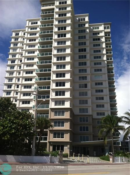LARGE CORNER TWO BEDROOM TWO BATH UNIT (APROX 1700 SQ FT) OFFERS VIEWS OF OCEAN, FT LAUD. BEACH, TO THE EAST & NORTH AND BIRCH PARK, INTRACOASTAL WATERWAY & DOWNTOWN FT. LAUDERDALE TO THE WEST. IMPACT WINDOWS & DOORS, COVERED CARPORT #14, WASHER/DRYER IN UNIT. PET FRIENDLY BUILDING. PRIVATE TUNNEL TO BEACH. CLOSE TO GALLERIA MAIL, LAS OLAS DINING/SHOPPING & GALT MILE READY FOR YOUR SIGNATURE/DESIGN.  EASY ACCESS TO FTL AIRPORT & PORT EVERGLADES