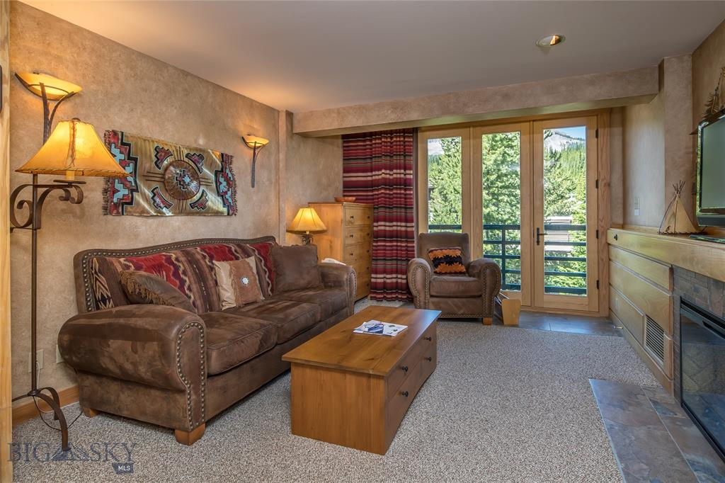 Ski in Ski out. Located in the heart of the Big Sky Ski Resort's Mountain Village. Enjoy valet ski service, spa, restaurants, bars, shopping and entertainment just outside your door. This is a great unit facing East to the Gallatin Range.  Rental income both summer and winter.