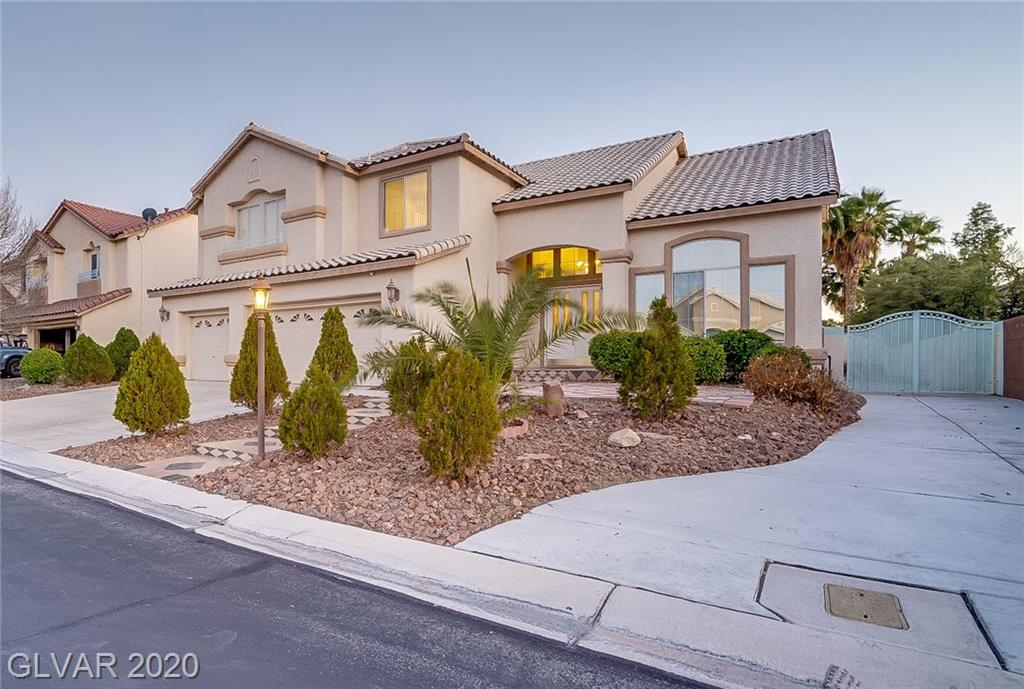 Location Location! Dream home close to I15 & future stadium in private gated community. 2-story home offering 5 beds/4.5 baths/3-car garage on 10,000+ sqft lot. Oversized POOL/SPA/patio & extra toy parking. Grand entry into high ceiling & 2-way stairs. Crown molding downstairs. Updated kitchen w. SS appliances & granite countertop overlooking spacious family room. Full ensuite downstairs. Spacious bdr w. j&j bath & walk-in closets. More to see!