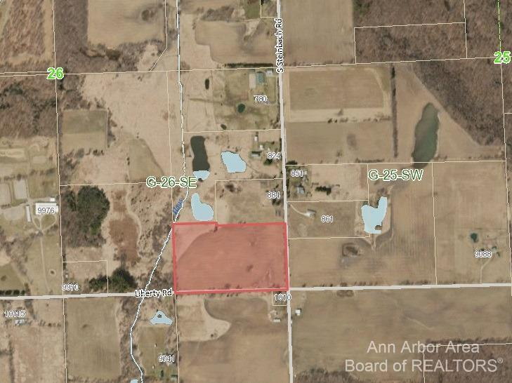Beautiful 26 acre property! Build your dream home! Located on the NW corner of S Steinbach and Liberty Road, next to Woodbine Farm. Dexter or Chelsea schools depending if driveway access is off Steinbach Rd or Liberty Road. Centrally located, close to downtown Dexter, Chelsea, and Ann Arbor.