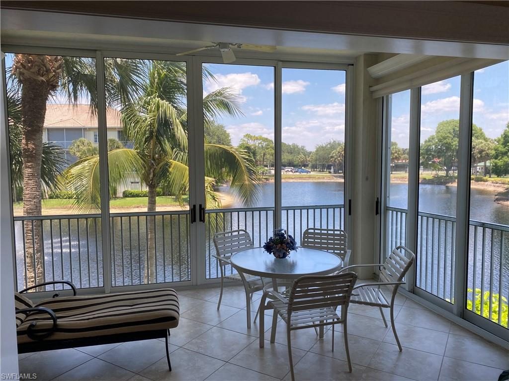 Rarely available outside/end unit with large lake views. If you want the best in Breakwater don't miss out on this beautiful 3 BR/2 BA oversize 2 car garage, updated apartment. Turnkey furnished. Steps to Pool and Clubhouse. All Pelican Bay amenities, close to shopping, restaurants and Beach Tram.  Won't last long in this market.