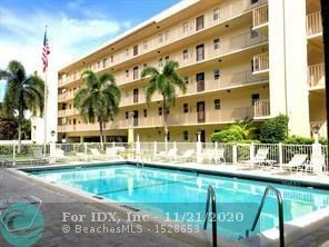 Buy this unit with only 5 % down.  Best Priced 2/2 in Lauderdale by the Sea.  Welcome home to your new 2 bedroom 2 bath condo less than 2 blocks to the beach with the low maintenance fee of $256 a month.  This unit has a large balcony perfect for sipping your morning coffee.  The complex has great amenities including a large heated pool area, covered BBQ area, extra storage area.  One assigned parking space but can accommodate a second vehicle.