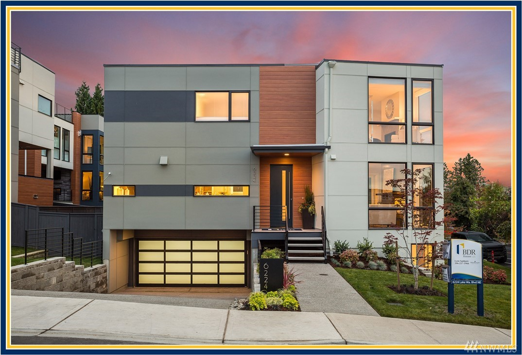 """Spring"" into your new home sales event happening now! Stop by our open hours to learn more. BDR Homes presents a fresh new lake view home located steps from Houghton Beach Park & Carillon Point. Modern open-concept floor plan with a main floor great room featuring Lake Washington views, a gourmet chef's kitchen, and a signature covered outdoor room with heaters, a fireplace, and TV. Luxurious master suite with fireplace, spa-inspired bath, & covered outdoor deck."