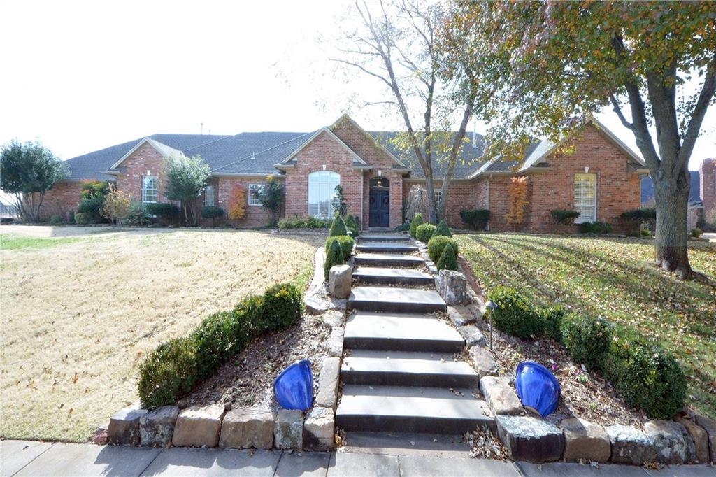 """THIS WONDERFUL HOME ON THE OAK TREE'S WEST SIDE IS PRICED TO SELL AND MOVE IN READY. LOT OF UPDATES AND  UPGRADES. THE STAINLESS STEEL KITCHEN APPLIANCES ARE NEW AND THERE IS PLENTY OF COUNTER AND CABINET SPACE. THE MASTER BATH HAS BEEN COMPLETELY REMODELED AND UPDATED. YOU WILL ALSO FIND MANY NEW FIXTURES AS WELL AS """"SMART HOUSE"""" LIGHTING BOTH INSIDE AND OUTSIDE. THERE IS NEW CARPET AS WELL AS MANY NEW WINDOWS HAVE BEEN INSTALLED. A SPACE SAVING AND UPRIGHT SAFE ROOM HAS BEEN INSTALLED IN THE GARAGE. EXTENSIVE LANDSCAPING AND SOME BEAUTIFUL MATURE TREES MAKE THIS A HOME YOU WILL WANT TO SEE.  GREAT PLACE TO CELEBRATE THE HOLIDAYS AND EVERY DAY !"""