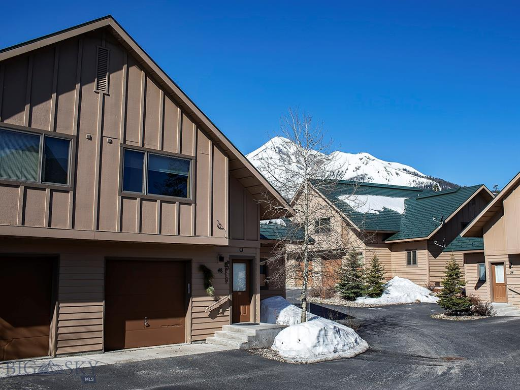 Ski access, lake access, mountain views, within walking distance to basecamp, mountain village activities and all the amenities at Big Sky Resort...this end-unit Big Horn Condo property backs to green space providing a superior location and also convenient access to the poma lift.  This remodeled condo with an abundance of natural sunlight has one of the most comfortable floor plans on the mountain, 3 bedrooms with 3 baths, cathedral ceilings, and open living, dining and kitchen areas.  Being sold furnished and turn-key, this property is all set for enjoying the nearby amenities, gatherings of family and friends and taking in beautiful views of Lone Mountain!