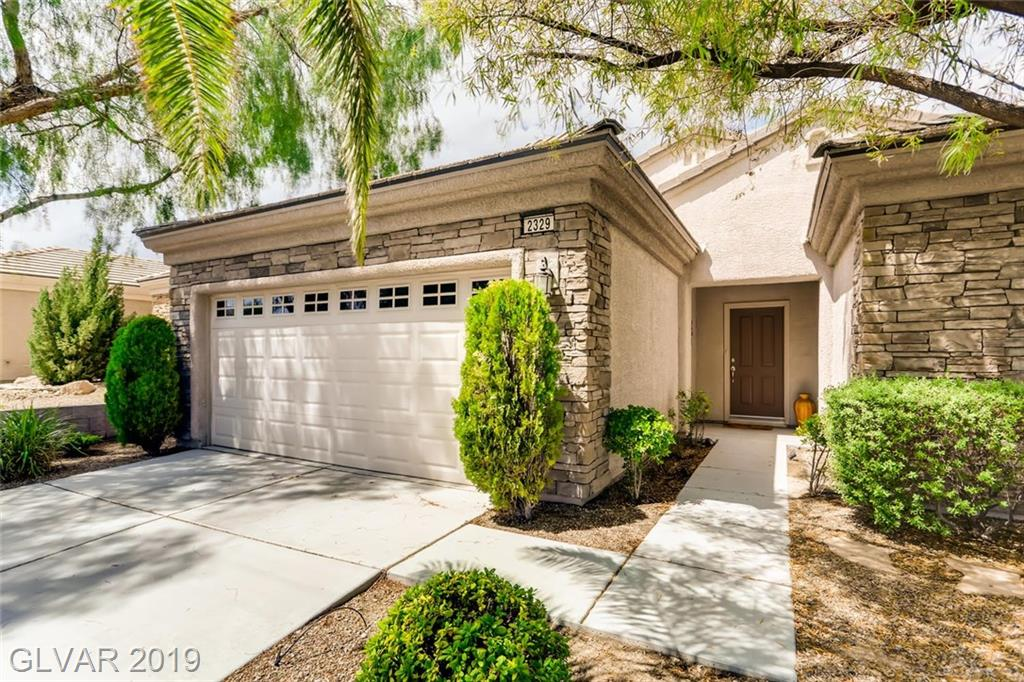 Dramatic City and Mountain Views! Franklin model, separate master suite, great room/open layout, kitchen nook and formal dining areas. Highly upgraded, original owners! Beautiful backyard with lush, low maintenance landscaping and elevated deck to enjoy views. Covered patio, tons of entertainment space. Gorgeous curb appeal, no rear neighbors. Fabulous Solera community. Appliances stay. Sweeping views of Red Rock, the city lights, valley floor!