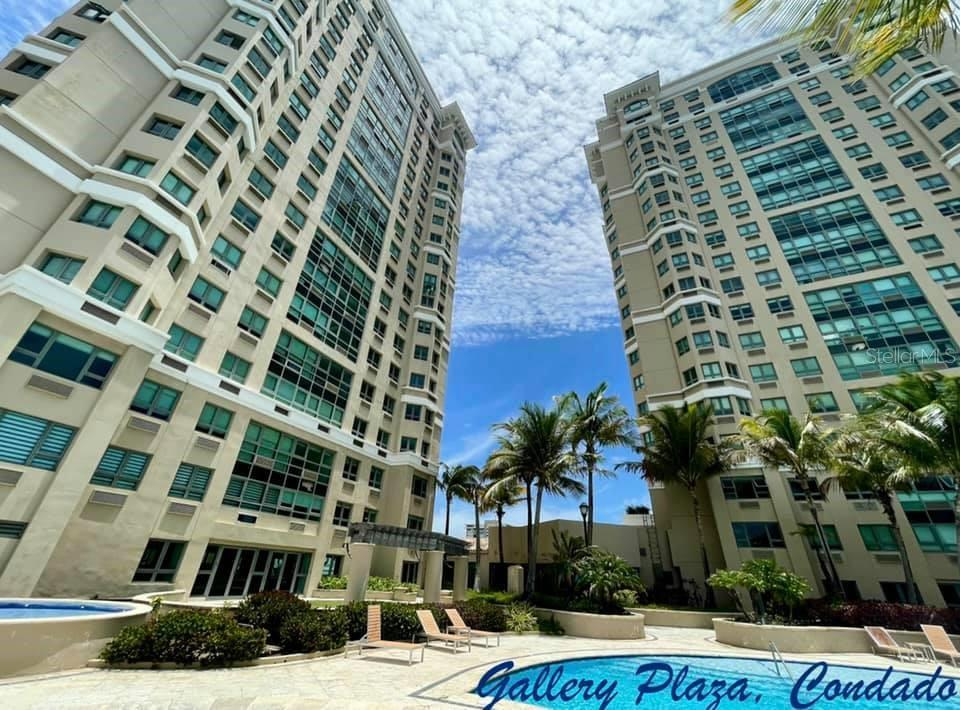 Gallery Plaza, South Tower in Condado, is a wonderful Building surrounded by excellent  restaurants, top schools as St. John and Robinson's, 24hr Supermax across the street, Starbucks  on premises, Ashford Medical Hospital nearby and walking distance to the beach. This unique  apartment is one of only four apartments with 2,713sqf, three (3) bedrooms, three (3) full bathrooms, laundry equipped, water heater, kitchen full equipped, covered and open terrace,  two (2) parking's, excellent recreational areas with Pool table and big pool area. Gallery Plaza is  a FULL GNERATOR building with also concierge and security. SP $1.6MM.