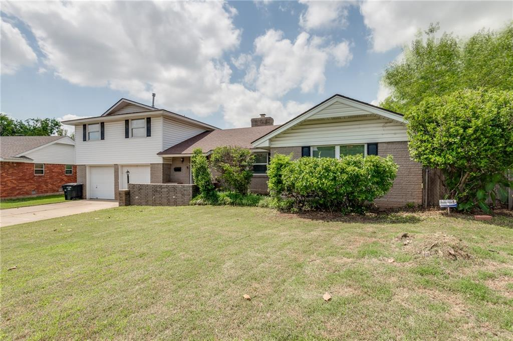 """.31 acre MOL, 4 bed 2 bath 2 car garage in Moore! 1699 sqft Backyard Access, Detached cinderblock shop 28x24 ft The barn is 14x25, two stories with loft for storage,  Storm Shelter, Hot tub is a 2004 Calspa with New heater and new pumps last year. Brand new carpet throughout the home, fresh paint, newer 2 """" faux finish blinds in front of the house. Large living room, fireplace, breakfast bar, Vinyl flooring downstairs. Large primary suite downstairs with 3 large bedrooms upstairs."""