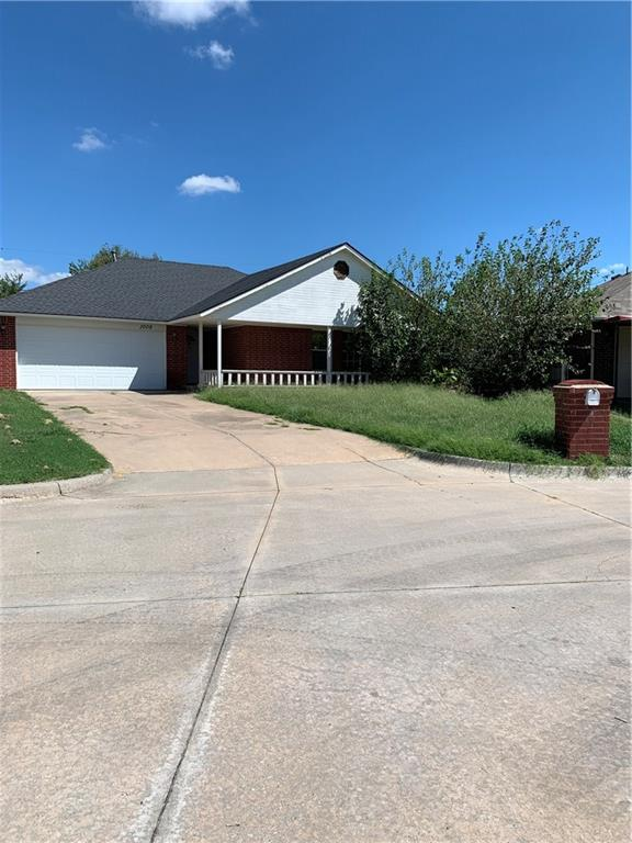 AS IS at this price,  Needs TLC,  Dishwasher missing.  Large back yard with  covered patio and below ground storm shelter.  Tile living areas.  Ramp for handicap in garage.  Corner fireplace in living room.  Great potential here.