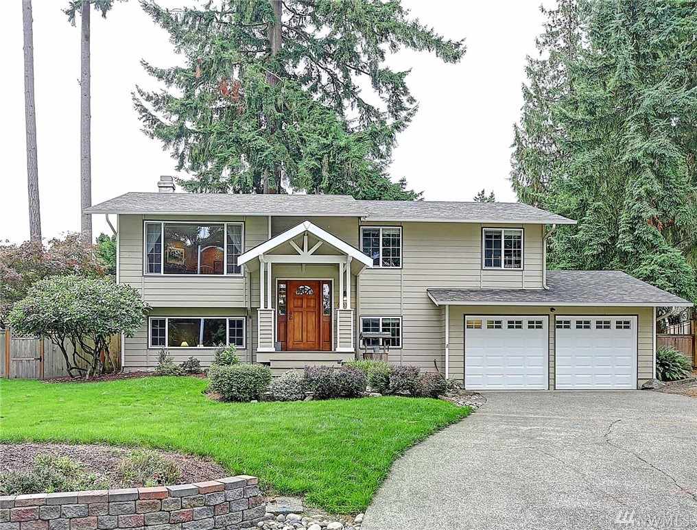 Beautiful NW Contemporary Craftsman located in the desirable S. Rose Hill neighborhood. Better than new, this lovingly cared for home boasts updated flooring & doors, heat pump, fresh paint, inviting covered Trex porch, and fully remodeled 2nd Bath! Bright, open floor plan & lots of windows! Sunny kitchen w/SS Appliances. French doors lead to huge deck overlooking pvt fenced grounds framed by tall firs -- doesn't get better! Hiking/bike trails, Lakes, Mtns, Downtown all in easy reach. Hurry!