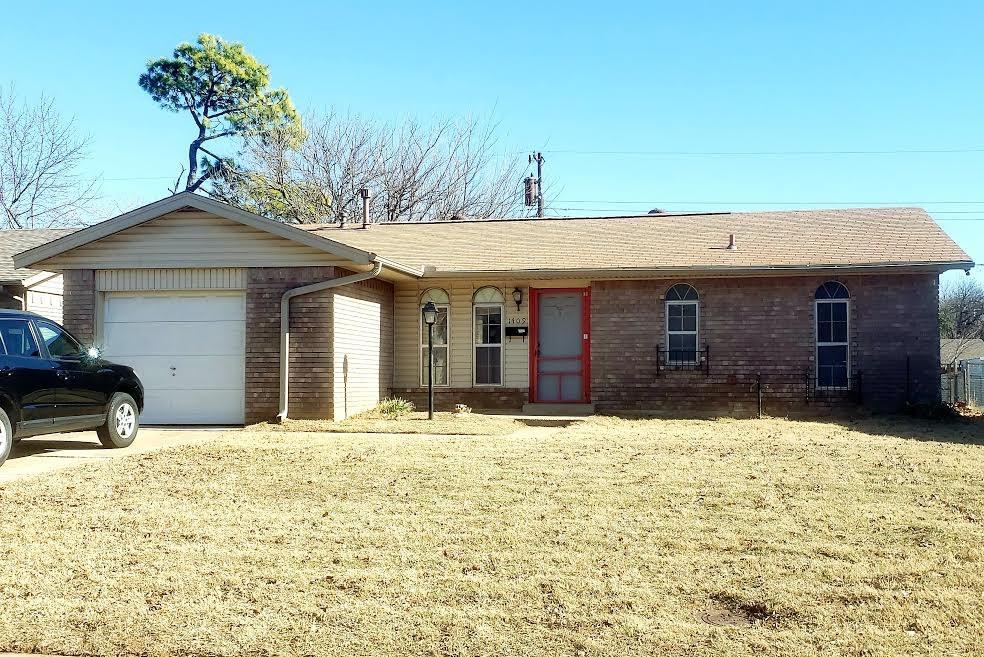 """Great bones on this home, just needs cosmetic updates!  Sought after price point in SW Norman just West of the University and just East of I-35.  Quiet neighborhood with no through traffic. Property is sold in """"As is"""" condition."""