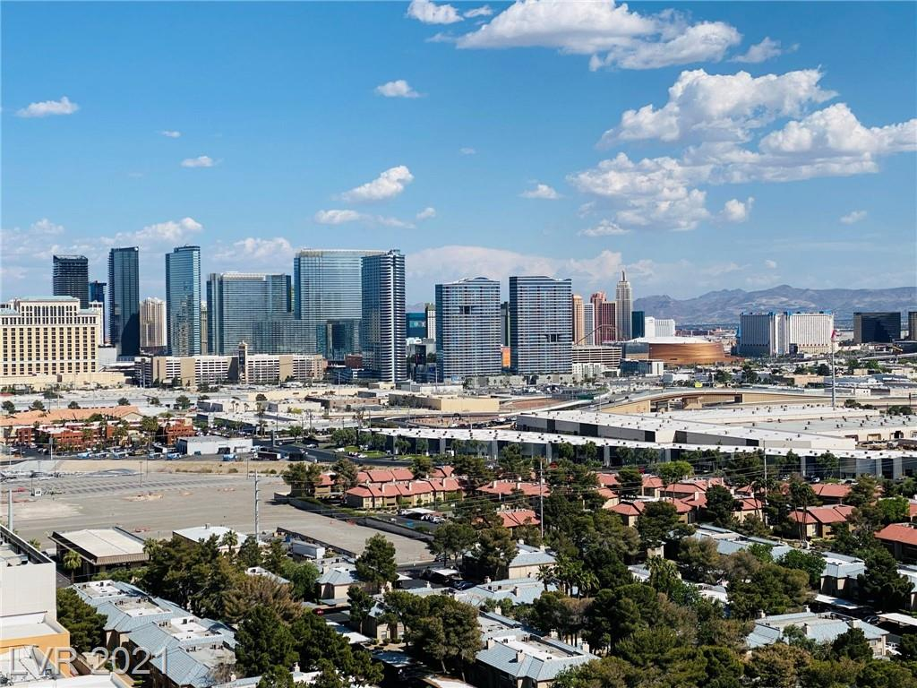 STUDIO SUITE. 21ST FLOOR. THE BALCONY OVERLOOKS THE LAS VEGAS STRIP AND MOUNTAINS. FULLY FURNISHED, THIS PROPERTY IS CURRENTLY RENTED AS A VACATION RENTAL THRU PALMS PLACE RENTAL MANAGEMENT POOL. OWNERS CAN LIVE AND OCCUPY YEAR ROUND. KITCHEN WITH STAINLESS STEEL APPLAINCES AT ENTRY.  KING BED AND SEPARATE SITTING AREA WITH THE SOFA PULL-OUT. PRIMARY BATH HAS SEPARATE TUB AND SHOWER. AMAZING RESORT AMENITIES INCLUDE BEAUTIFUL POOL, SPA, FITNESS, DINING, CONCIERGE  VIP CHECK-IN. ALL UTILITIES ARE INCLUDED WITH THE HOA.