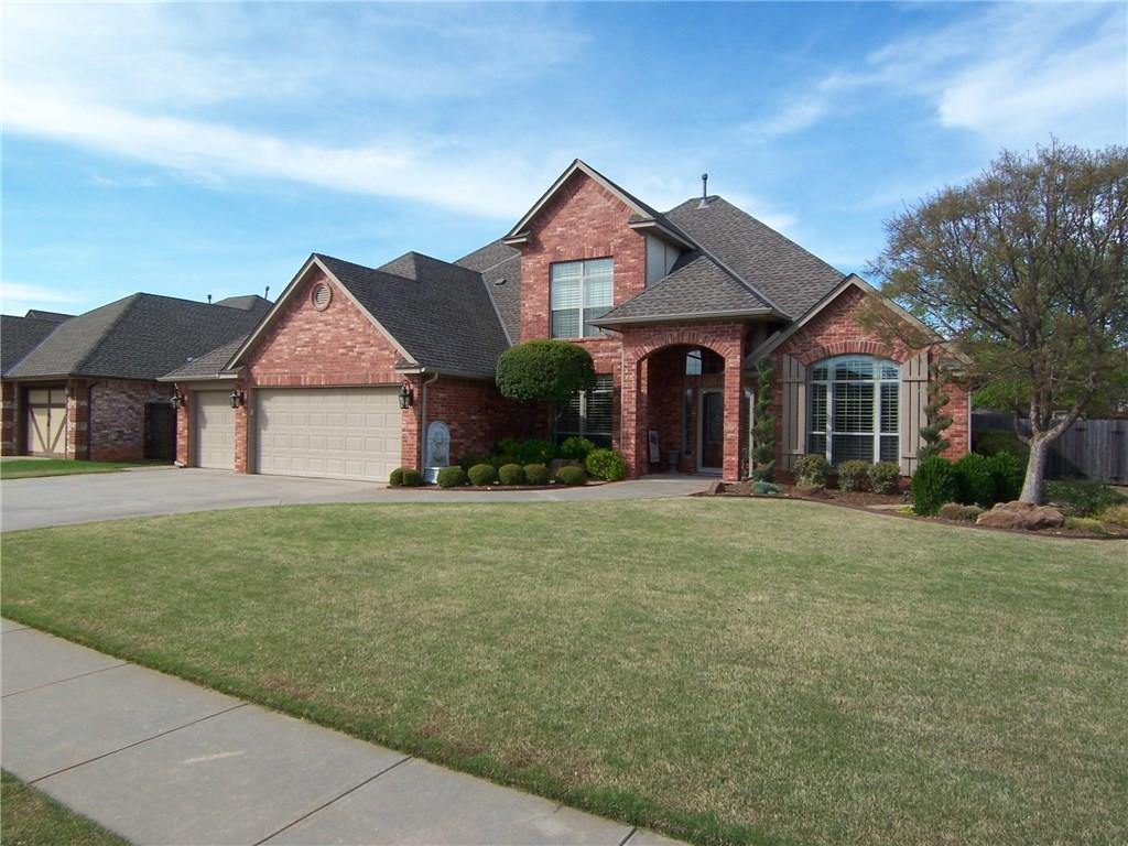 "BUILDER'S MODEL HOME. A real west Norman beauty. It has all the bells and whistles. The owners have taken great care of this home. It looks like a new home in ""like new"" condition. Their attention to detail and determination to have everything just right will be a real bonus to new owners. Very large master has an adjoining bath with large double­ vanity, Australian closet and separate jetted tub and tiled shower. There's another bedroom downstairs. There's also a big study or additional flex living space downstairs too. The other bedrooms are all large and have walk-in closets. The kitchen, breakfast room and living area are open, awesomely decorated and perfect for large groups. Rock-faced granite counter tops and stainless steel appliances. There's a huge bonus room upstairs with room for two large entertaining areas and surround sound. Nice covered patio and beautiful landscaping. Full sprinklers. Triple-zoned H & A. Generac generator can stay with acceptable offer."