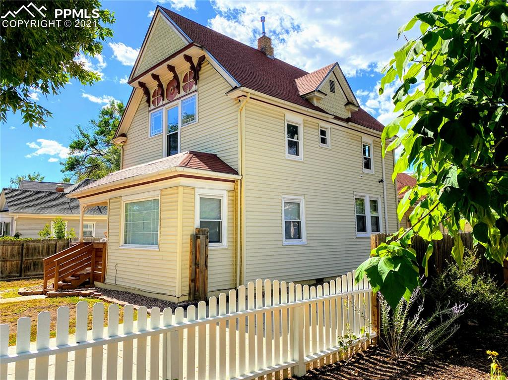 One-of-a-kind beauty in Old Colorado City! This tastefully remodeled historic Victorian home has a convenient Westside location, which is tucked between Downtown CO Springs and Manitou Springs. It is within walking distance of coffee shops, restaurants, schools, local shopping, and much more. The home has an open floor plan with lots of natural light and is turnkey. The home is zoned R-2 and was most recently used as a 2-unit income property.  However, it can easily be switched between a single-family residence or income property by simply locking sliding barn doors and additional door near the front entrance. Main and Upper levels have separate HVAC systems and laundry rooms. The upper level has a kitchenette. The main level has a walk-out covered patio. Large and generous crawl space for storage. The fenced yard includes an additional workshop. On-street parking and driveway for RV if desired. The information was gathered from preliminary inspections of the property and the current actual knowledge of the owner. It is subject to change without notice and must be verified independently by Buyers. Listing Broker takes no responsibility for its accuracy.