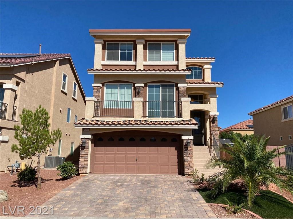 3 Stories home located in Southwest Las Vegas, less than 15 minutes from The Strip and Raider Stadium. Short drive to 15 and 215 freeways, Rainbow Blvd, and the local schools. 5 Bedrooms with 2 master suite one downstairs & upstairs with large walk-in closet and bathroom! Beautiful backyard with inground spa & bbq island & upgraded iron side gate