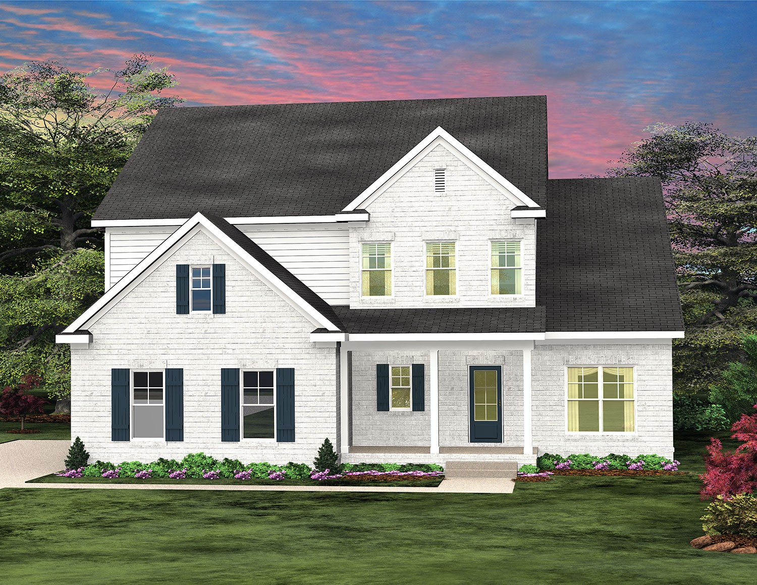 Gorgeous Jamestown plan.  4 or 5 bedrooms, one could be an office, freestanding soaking bathtub, hardwoods, tile, upgraded chef style kitchen is perfect for any gathering and is large enough for entertaining.  The covered back patio has a glass sliding panel from the great room.  The porch is cable ready just bring your TV! READY MAY 2021