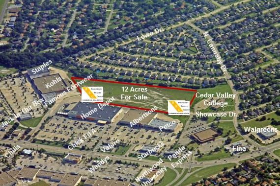 Nestled around one of the busiest intersections in Cedar Hill, this 12 acre parcel sits immediately behind the Cedar Hill Crossing mall. This property is accessible from Showcase Dr. on the east and through easements from the mall on both the East and West sides of Home Depot. Excellent property for long term stay hotel suites, nursing facilities or family oriented activity centers. Many opportunities exist for this parcel.