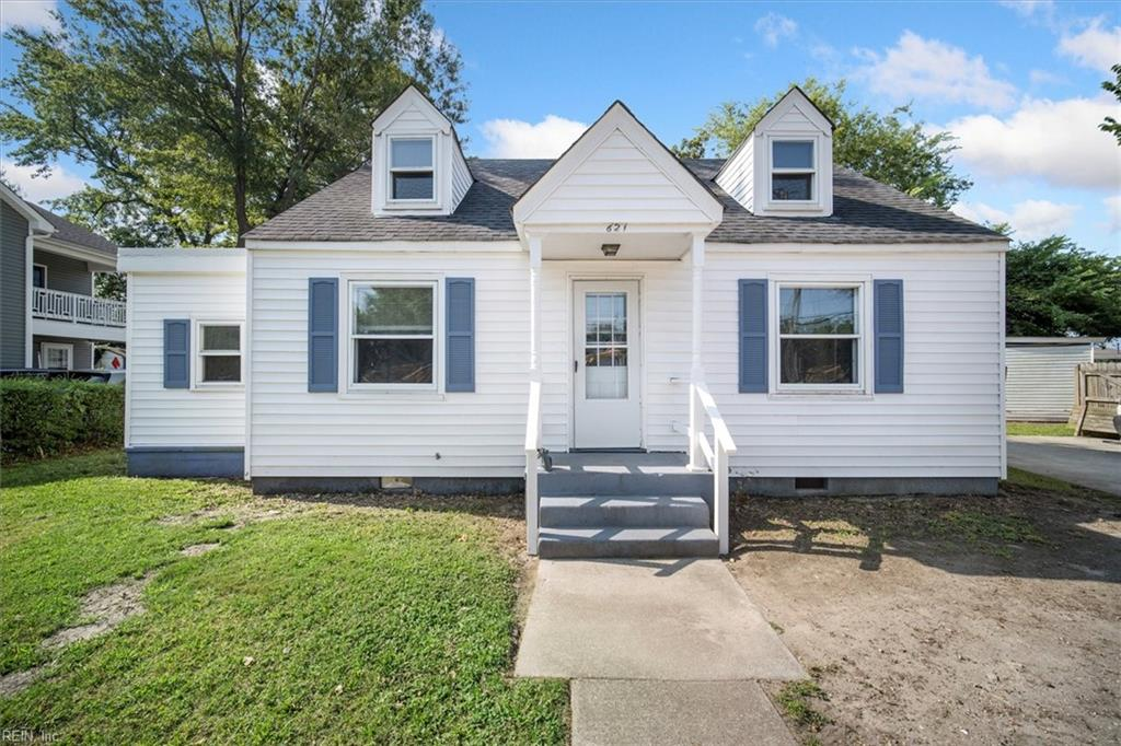 Cute Cape Cod in great central location. Convenient to bases, restaurants, shopping and highways. Four bedrooms with two upper and one on first floor. Large backyard with deck. Four separate sheds and oversize driveway with room for four cars. Priced to sell quick!