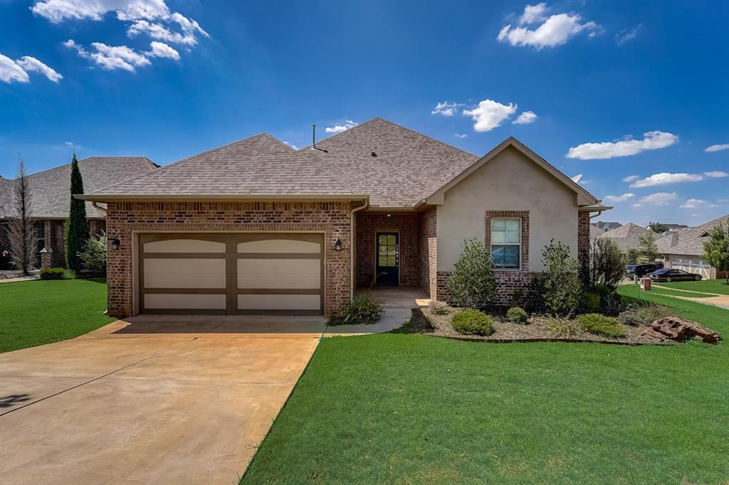 Built in 2016, this Edmond one-story home offers a patio, granite countertops, and a two-car garage. This home has been virtually staged to illustrate its potential.