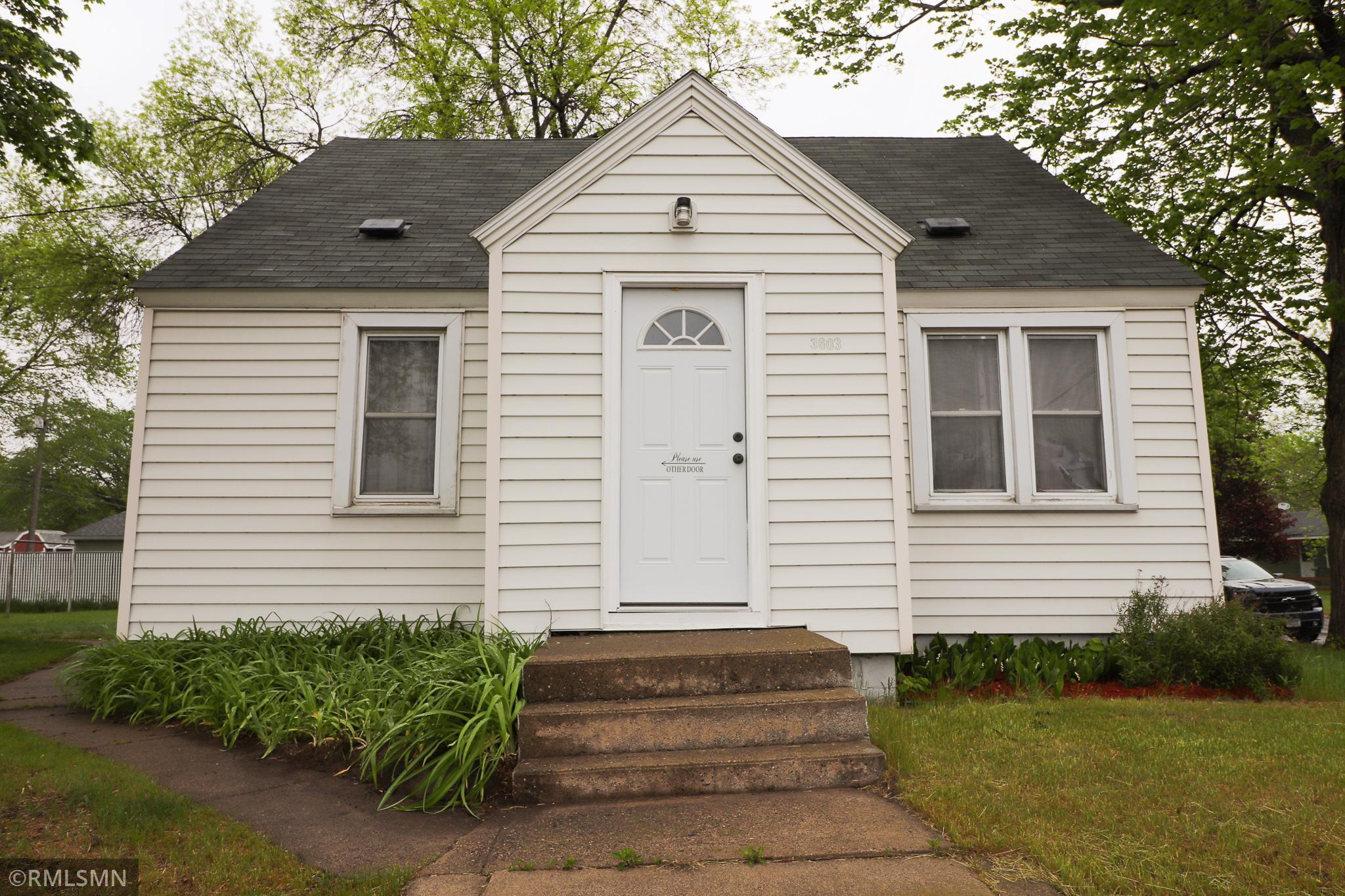 Tired of Renting? Here is a 2 bed, 1 bath, 2 owner mid-century home on a large corner lot that has 3 off street parking spaces and a garage. This home has loads of potential for the right buyer. Convenient centralized location makes getting anywhere in St Cloud easy. Priced lower than most rentals. Could also be a great investment property.  New sewer lines installed by the city in 2020.