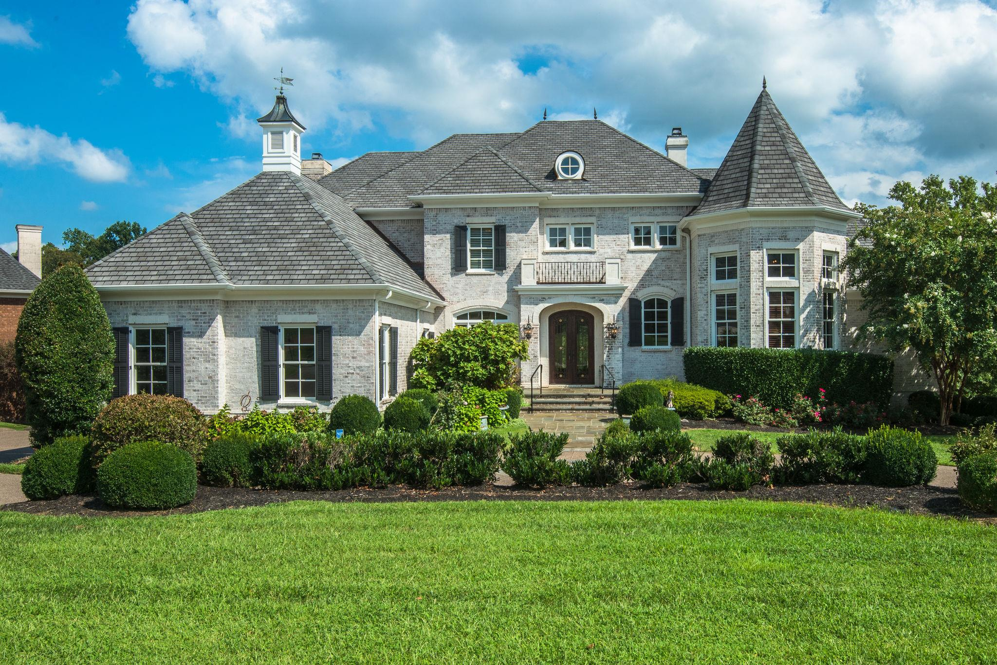 Wonderful French Country Manor style home in the Prestigious Governors Club. 6 bedrooms, each with its own full bath, plus 2 half baths (6,2 total). Two master suites, each on a walk-in floor. Two garages, one 3-car & one 2-car. Theatre room, 3-floor elevator, wine cellar/safe room, amazing pool with hot tub and waterfall, mahogany office, eat-in kitchen, formal dining room, summer kitchen, multiple family rooms, new paint, new flooring, and so much more!