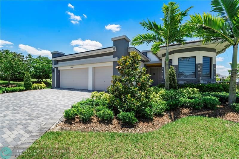 This beautiful Barron model at Cascata is in one of the newest premier communities in Parkland. You will find tile throughout, with wood flooring in the bedrooms along with tray ceilings and impact glass windows and doors. The gourmet kitchen has a gas cook top, stainless-steel appliances, wood cabinets, quartz counters and a large island. The spacious primary bedroom suite has a sitting area, two walk-in closets and a large bathroom. A three-car garage completes this home. Set on a Presidential size lot and lake view. The clubhouse has a resort style pool, kids water park, gym, tennis courts, a spa and much more. This is better than buying from the builder as there are no builder fees. Conveniently located, with top rated schools nearby. It's a great place to call Home!