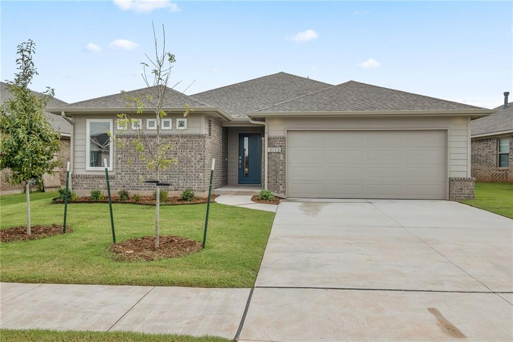 This contemporary style brand new 3 bedroom home offers an open living/dining layout with a study, indoor utility/mud room, large entry way, and outdoor covered back patio! The kitchen features stainless steel appliances with gas cook range and microwave, quartz countertops, glass tile backsplash, and a breakfast bar. The home boasts an energy efficient HERS score of 60, guaranteeing you low heating & cooling costs all year long! Move-in ready now!