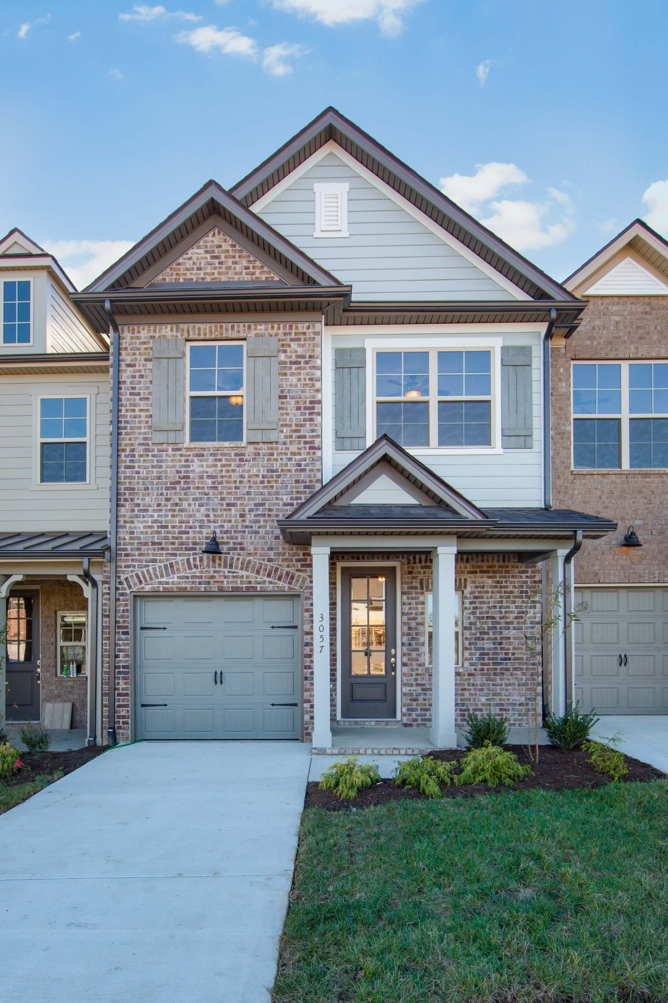 The Biltmore plan by Willow Branch Homes features a First Floor Owners Suite, open kitchen/dining/living room that leads onto a covered patio over looking green space & half bath.  Upstairs boasts a bonus area, two more bedrooms and a full bath. Included features: Granite in Kit and Bths, Hardwood First Floor living area and Stairs, Full tiled shower in owners bath, Soft Close Cabinets and more!!  Additional interior units available.. Photos not of actual unit.. Ready Dec. 2020!!