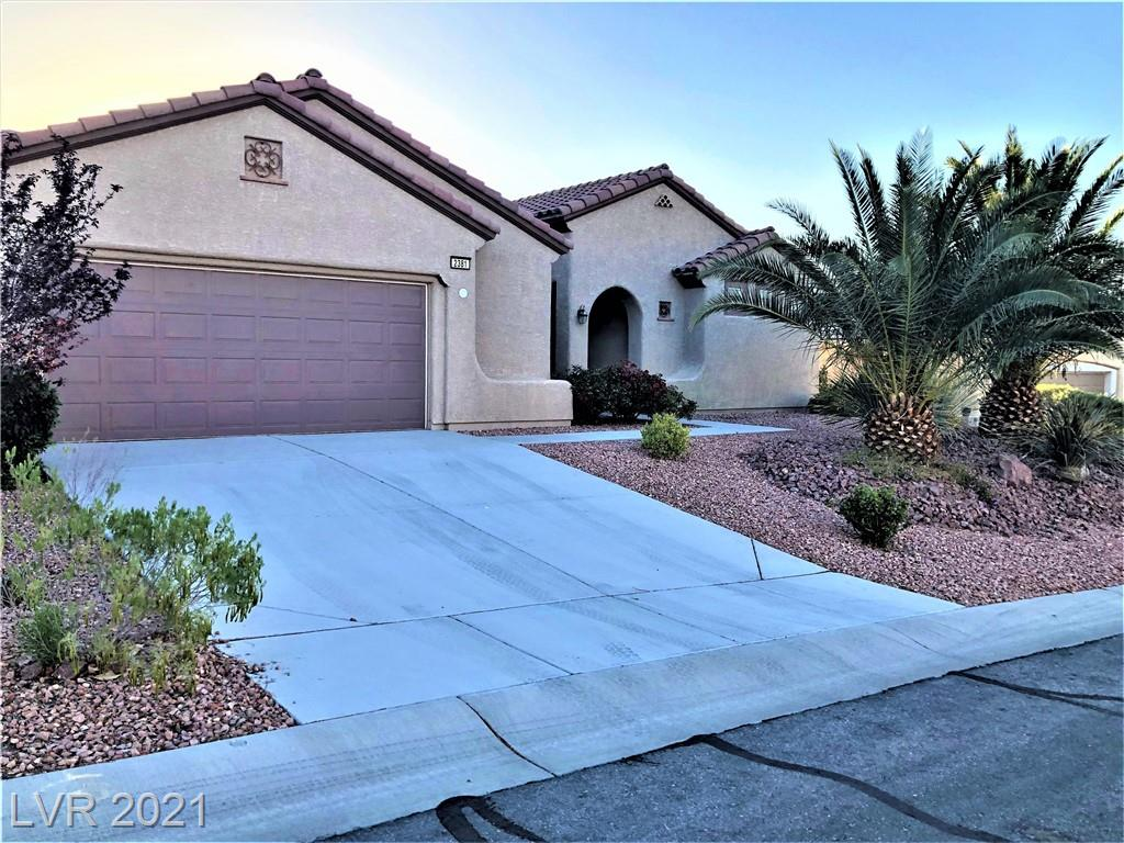 Gorgeous Montgomery model, 3 bedrooms, 2 bathrooms, 2-car garage w/extra space for Golf Cart storage or shelving. diagonal tiles, plantation shutters throughout, granite countertop, mature desert landscaping. Stop in and view this fantastic home, 55+ community pride of ownership.