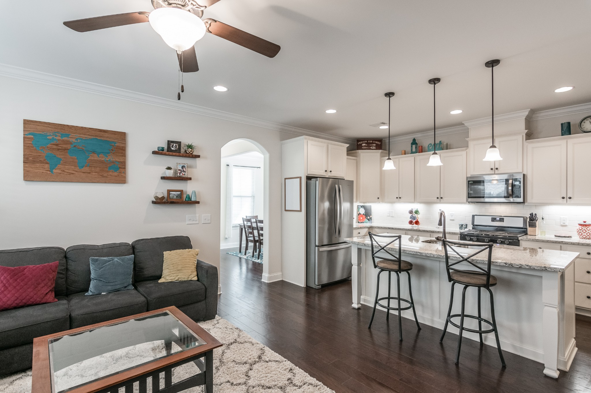 Gorgeous home built in 2017. Very well kept with plenty of upgrades. Walk to The Streets of Indian Lake. Miles of walking trails. Across the street from Hendersonville Public Library. Great small community with only 120 homes.