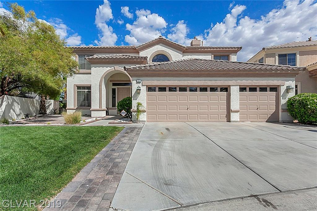 4,108 sf Rhodes Ranch stunner on golf course frontage w/pool/spa/bbq/coved patio, cooks kitchen w/granite island/counters/seating area, 4 BD's/4BA's, huge loft w/working desk and electrical, beautiful master w/balcony & city lights view, granite counters, shower & tub($5K credit to repair/replace tub), secondary BR in Master can be nursery, exercise room, office, new carpet/paint t/o, and the amazing amenities of Rhodes Ranch club house & H20park