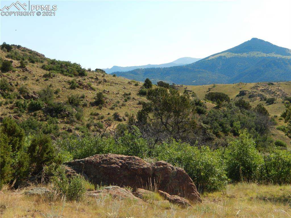 Nestled in the backcountry of Colorado is this stunning private property on over 590 aces. Experience some of the best views of the rolling hills, meadows, scenic canyons with rock formation surrounded by gorgeous mature trees, and mountains, including Pikes Peak, Mt. Pisgah, and Sangre de Cristo. This property provides the perfect opportunity for an equestrian ranch. Two small springs in the canyons provide water for abundant wildlife and livestock and a drilled well. Take your horses, mountain bikes, and ATVs out to explore the property and surrounding areas. The property is also conveniently located near several campgrounds, hunting, and fishing opportunities. It is also 30 minutes to Cripple Creek for some gambling fun and unique events year-round, as well as 40 minutes from Woodland Park. You will love the level of privacy and tranquility you will experience on this property.